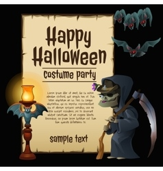 Witch party costumes happy Halloween vector image vector image