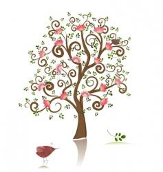 flowering ornamental tree vector image