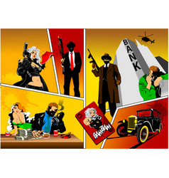 history of gangsters vector image vector image