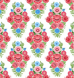 old seamless texture with stylized floral ornament vector image vector image