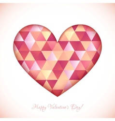 Red diamond triangles texture heart vector image vector image