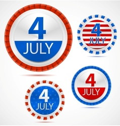 Set of 4th July labels vector image