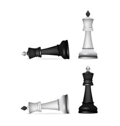 Victory chess figures chessmen isolated on white vector