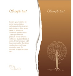 vintage abstract tree vector image
