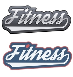Vintage fitness label and tag vector image vector image