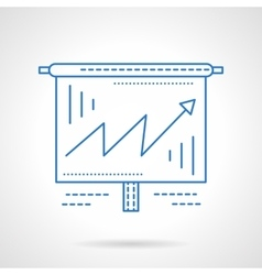 Business growing chart blue line icon vector image