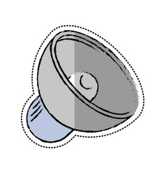 cartoon speaker sound volume icon vector image