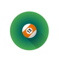 flat color billiard ball vector image vector image