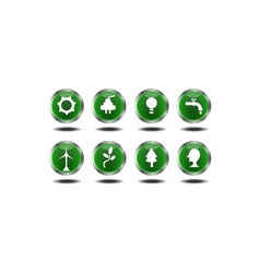 Set of green icons vector image