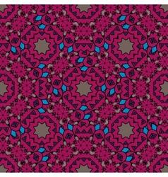 Vintage purple seamless pattern with filigree vector image