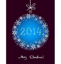 Christmas Snowflakes Ball vector image