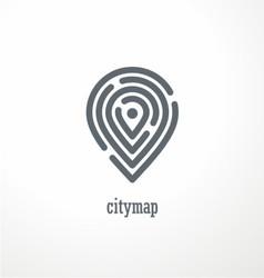 City map creative symbol concept vector image vector image