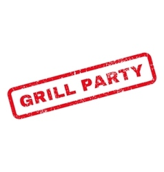 Grill party text rubber stamp vector