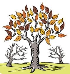 Hand Drawn Tree 01 vector image vector image
