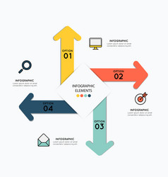 infographic elements with icons for business vector image vector image