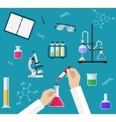 Science Experiment or chemistry laboratory concept vector image vector image