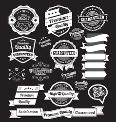 Set of vintage badges and design elements vector image