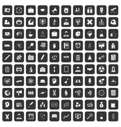 100 seminar icons set black vector