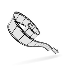 3d film strip cut vector image