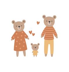 a cute bear family vector image