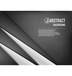 Abstract background of white and black origami vector image