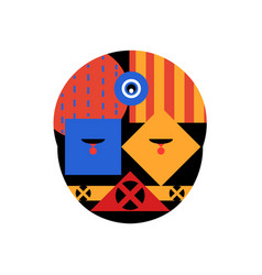 Abstract geometric face vector