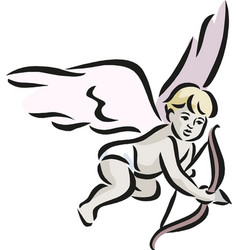 angel cupid valentine s day vector image