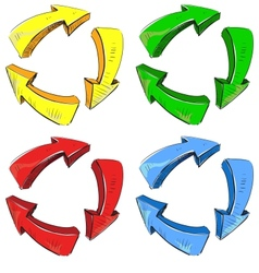 Arrows recycle sign vector image