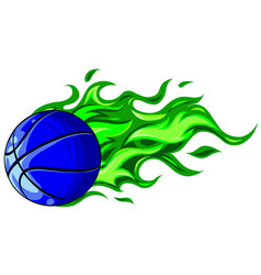 basketball ball in flame vector image