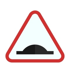 Bump ahead vector image