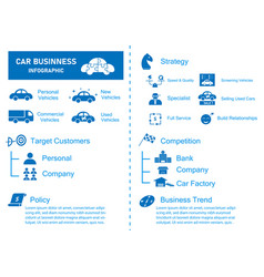 car business infographic for annual report vector image