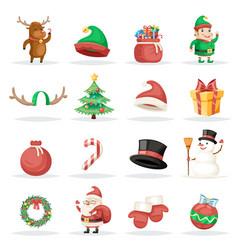 christmas new year winter holiday xmas isolated vector image
