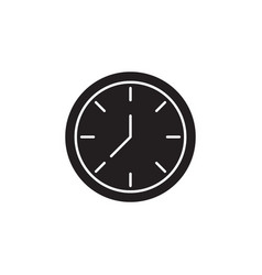 clock signs and symbols icon vector image