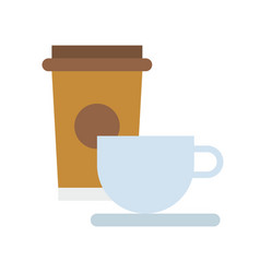coffee cup food and gastronomy set flat icon vector image