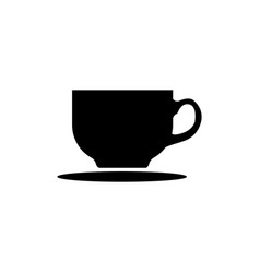 coffee tea cup icon black vector image