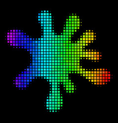 colored pixel blot icon vector image
