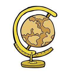 Comic cartoon globe vector
