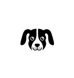 creative dog face head logo vector image