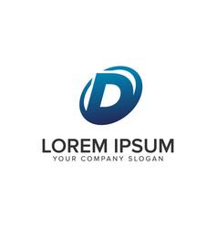 creative modern letter d logo design concept vector image