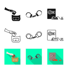 Crime and steal sign vector