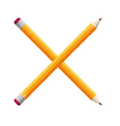 Crossed pencils school icon vector