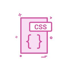 Css file format icon design vector