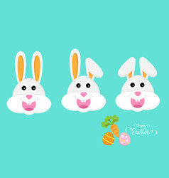 cute rabbit or bunny head vector image