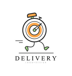 delivery logo design creative template for vector image