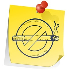 doodle sticky note smoking no vector image