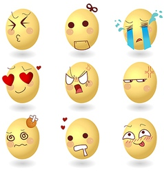 Eggs Emotions Set1 vector image vector image