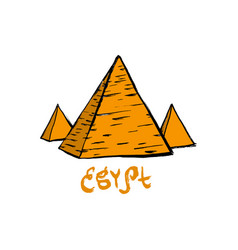 egypt pyramids with egypy sign in flat design vector image