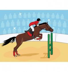 equestrian rider vector image