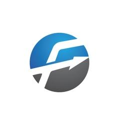 F letter faster the future logo letter logo templ vector