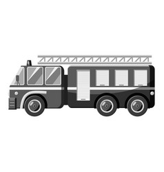 fire truck icon gray monochrome style vector image